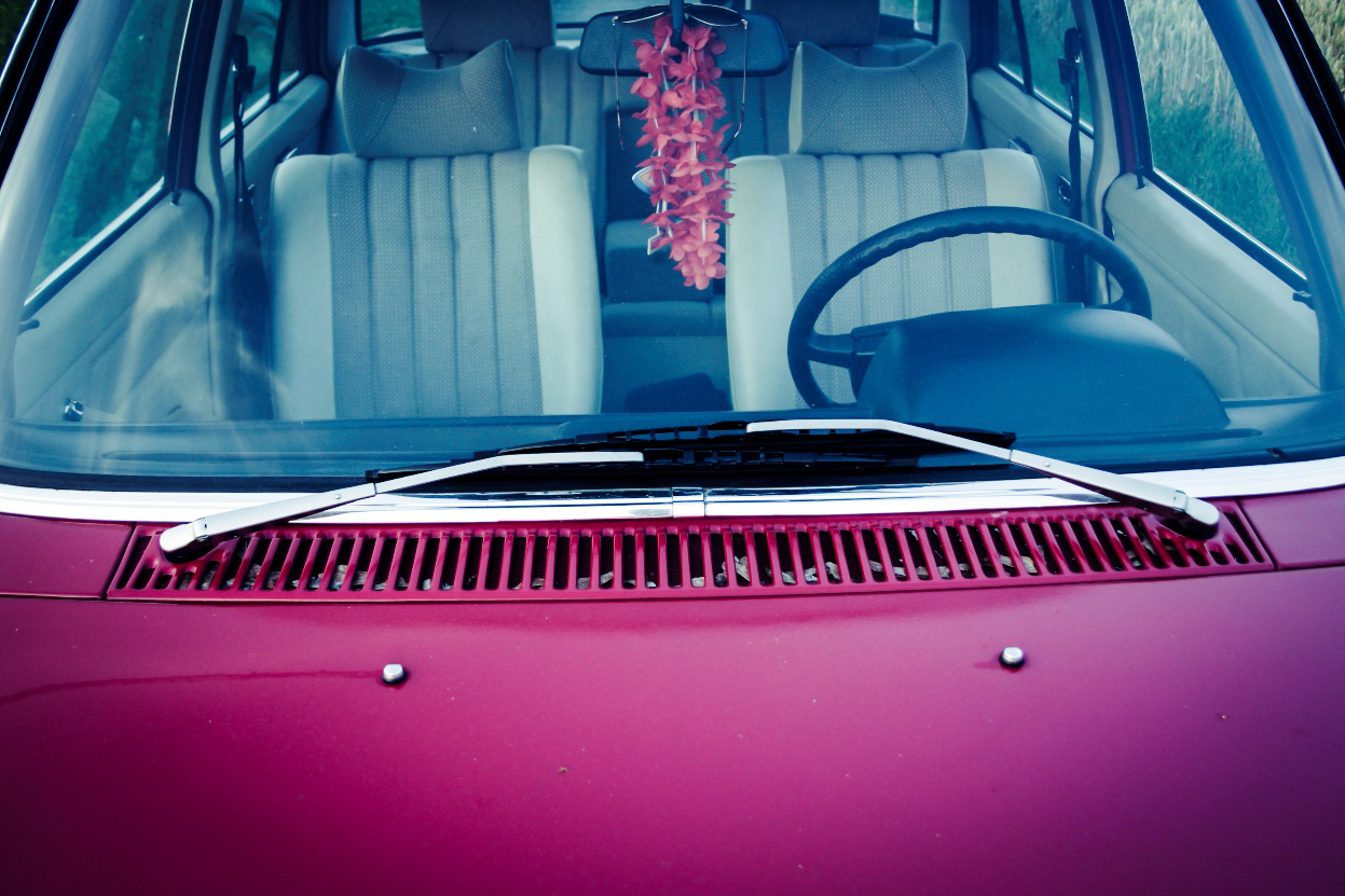 Pink Car bonnet