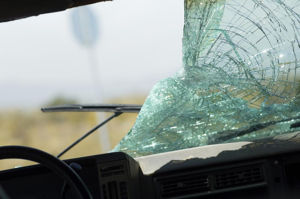 Cracked windshield